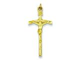 Sterling Silver Vermeil  Crucifix Pendant - Chain Included style: QC7362