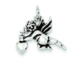 Sterling Silver Antiqued Cupid Charm style: QC7387