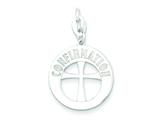 Sterling Silver Polished Confirmation Cross Charm style: QC7407