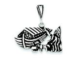 Sterling Silver Antiqued Boat Charm style: QC7410