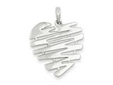 Sterling Silver Polished Heart Pendant - Chain Included style: QC7436