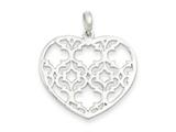 Sterling Silver Polished Filigree Heart Pendant - Chain Included style: QC7437
