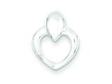 Sterling Silver Polished Heart Pendant - Chain Included style: QC7442