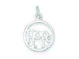 Sterling Silver Hope Circle Charm style: QC7482