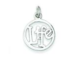 Sterling Silver Life Circle Charm style: QC7486