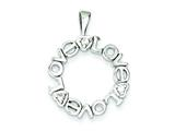 Sterling Silver Cubic Zirconia Love Circle Charm style: QC7487