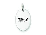 Sterling Silver Polished Enamel Wish Pendant - Chain Included style: QC7490