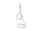 Sterling Silver Heart Love Charm style: QC7502