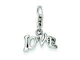 Sterling Silver Love Charm style: QC7508