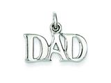 Sterling Silver  Dad Charm style: QC7513
