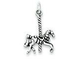 Sterling Silver Antiqued Carousel Horse Charm style: QC7529