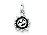 Sterling Silver Antiqued Sun Charm style: QC7534