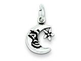 Sterling Silver Antiqued Moon Charm style: QC7541