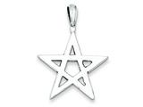 Sterling Silver Antiqued Star Charm style: QC7542
