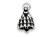 Sterling Silver Antiqued Girl In Dress Charm style: QC7549