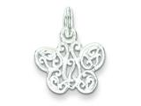 Sterling Silver Butterfly Charm style: QC7555