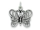Sterling Silver Antiqued Butterfly Charm style: QC7560