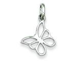 Sterling Silver Small Butterfly Charm style: QC7572