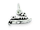 Sterling Silver Antiqued Boat Charm style: QC7599