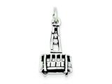 Sterling Silver Antiqued Gondola Charm style: QC7601