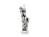 Sterling Silver Antiqued Statue Of Liberty Charm style: QC7603