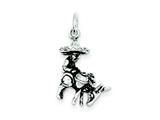 Sterling Silver Antiqued Man And Donkey Charm style: QC7614