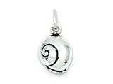 Sterling Silver Antiqued Seashell Charm style: QC7644