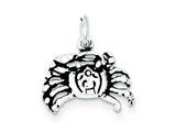 Sterling Silver Antiqued Crab Charm style: QC7655