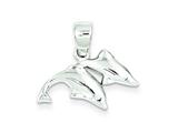 Sterling Silver Polished Dolphin Pendant - Chain Included style: QC7661