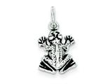 Sterling Silver Antiqued Frog Charm style: QC7676