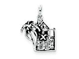 Sterling Silver Antiqued House Charm style: QC7693