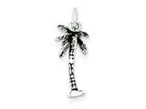 Sterling Silver Antiqued Palm Tree Charm style: QC7701
