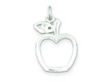 Sterling Silver Cubic Zirconia Apple Charm style: QC7704