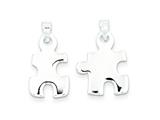 Sterling Silver Polished Puzzle Pieces Pendant - Chain Included style: QC7719