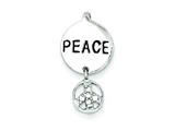 Sterling Silver Cubic Zirconia Peace Inspiration Pendant - Chain Included style: QC7724