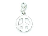 Sterling Silver Polished Peace Charm style: QC7725
