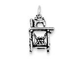 Sterling Silver Antiqued Sowing Machine Charm style: QC7744