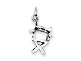 Sterling Silver Antiqued Chair Charm style: QC7745