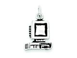 Sterling Silver Antiqued Computer Charm style: QC7753