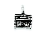 Sterling Silver Antiqued Piano Charm style: QC7758