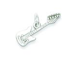 Sterling Silver Electric Guitar Charm style: QC7774