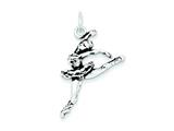 Sterling Silver Antiqued Ballerina Charm style: QC7785