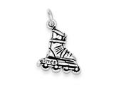 Sterling Silver Antiqued Rollerblade Charm style: QC7815