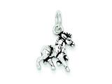 Sterling Silver Antiqued Horse Charm style: QC7841