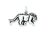Sterling Silver Antiqued Lion Charm style: QC7869