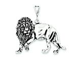 Sterling Silver Antiqued Lion Charm style: QC7872