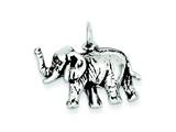 Sterling Silver Antiqued Elephant Charm style: QC7877