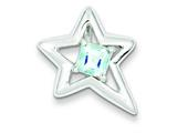 Sterling Silver Polished Star Blue Topaz Pendant - Chain Included style: QC7890