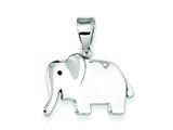 Sterling Silver Elephant Pendant - Chain Included style: QC7902