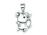 Sterling Silver Mouse Pendant - Chain Included style: QC7903